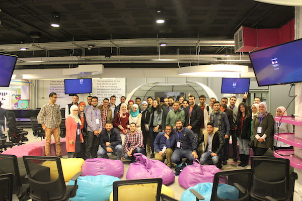 Attendees of the Jordan InnovationMeetUP