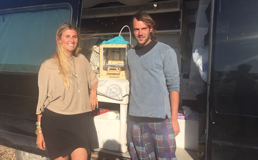 Jennifer Gadient and Fabian Wyss from the Sea Food Project