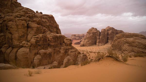 The arid landscape of Jordan