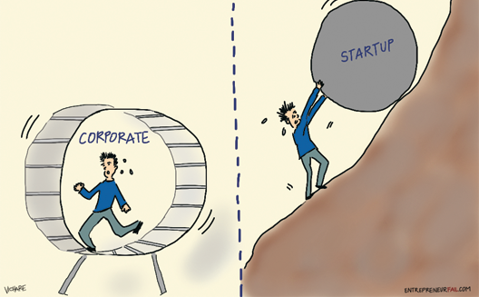 startups vs corporates