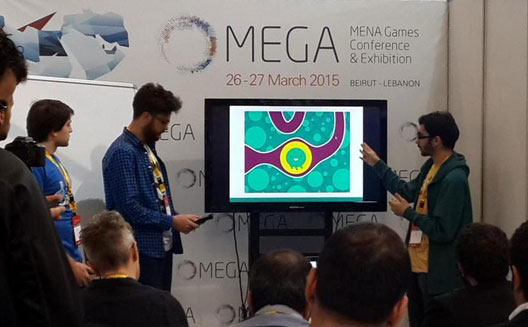 Groovy Antoid presenting their game at Arabic Game Jam
