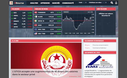 ilboursa, informations boursières en Tunisie