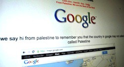 Google Palestine defaced