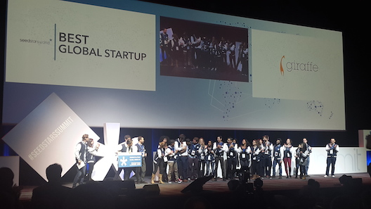 Giraffe wins Best Global Startup
