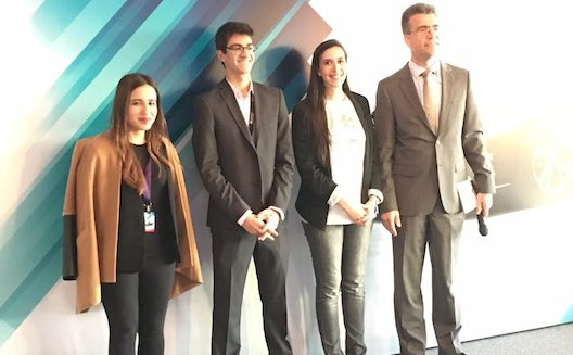 Zaina Al Bader, Stefano Fallaha & Thea Myhrvold with Juergen Schmitz, Managing Director at Infiniti Middle East.