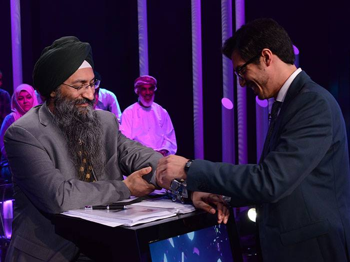 Thieab Al Dossary fits jury member Sunit Singh Tuli