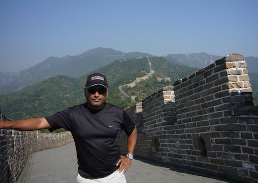 Ed Roberto at the Great Wall of China