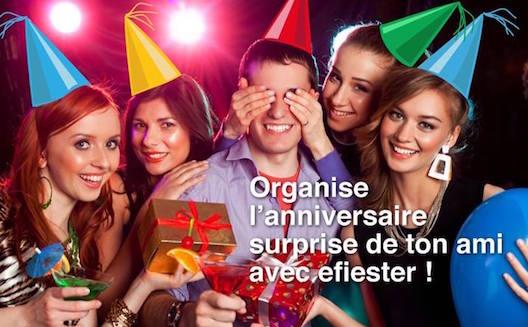 Efiester, organiser des soirées entre amis
