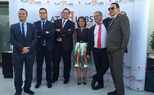 Les cofondateurs de Le15 avec l'équipe de Flat6Labs