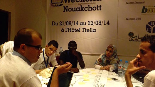 Mauritanian startups learn about the lean canvas at Startup Weekend Nouakchott