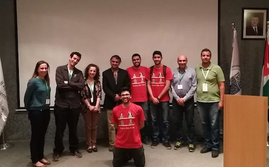 The hackathon winners Afraan.