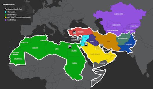 500 Startup's map of MENA