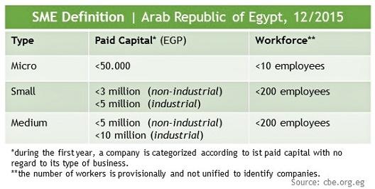 Egypt SME definition