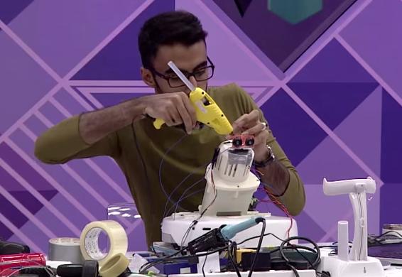 Refining his prototype