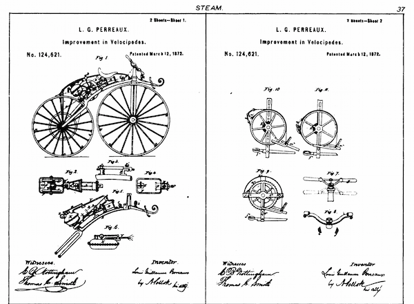 An 1800s automobile patent