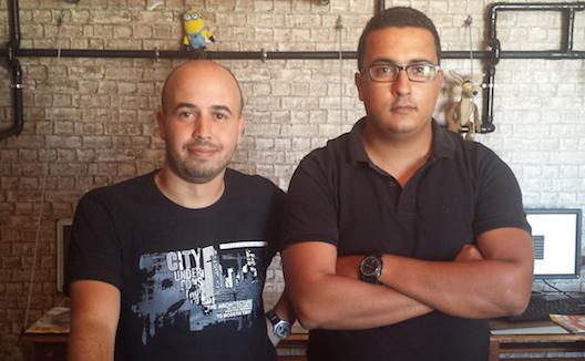 Slim Khimssi et Aymen Mekki dans leurs bureaux