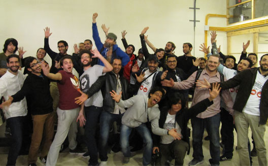Arabic Game Jam participants pose at the end of the event at AltCity