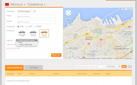 Réservation d'une voiture Careem à Casablanca sur le web