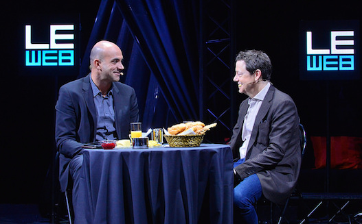 LOIC LE MEUR AND FRED WILSON at LeWeb 2015