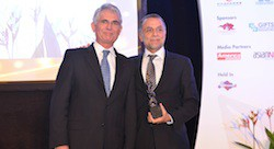 Wamda Chairman Fadi Ghandour receives award at WEF