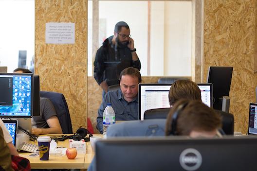 Quiqup cofounder Bassel El Koussa at work
