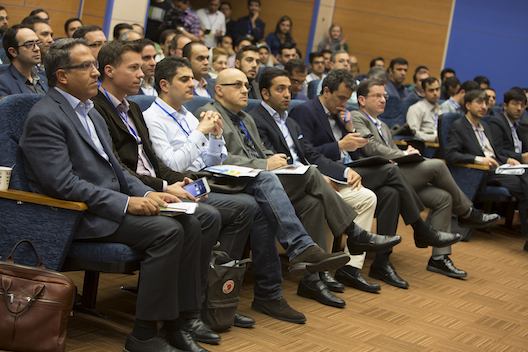 Investors at an Avatech demo day in April