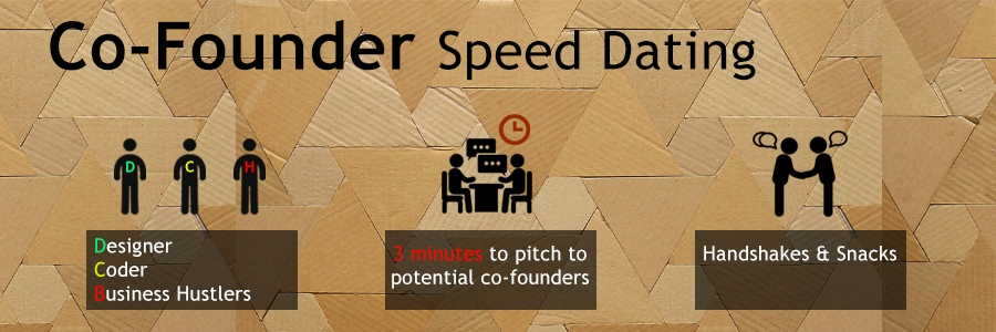 co-founder dating & speed pitching