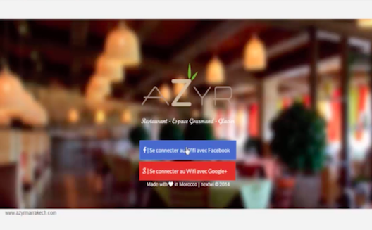 Se connecter au wifi d'un restaurant avec son compte Facebook