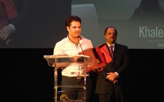 Khaled Bouchoucha reçoit le prix de l'entrepreneur de l'année