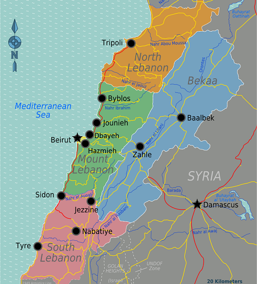Lebanon tech clusters