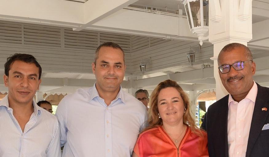 Tarik Fadli, Amine Hazzaz, Leila Laraqui et Dwight L. Bush, Ambassadeur des Etats-Unis au Maroc