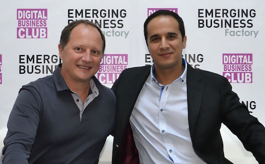 Pascal Chevalier et Taoufik Aboudia au lancement de Emerging Business Factory