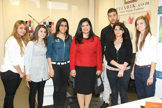 Foodlve team with Princess Sumaya bint al-Hassan