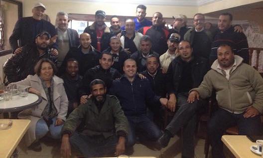 Tayeb Sbihi et des chauffeurs de iTaxi