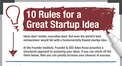Rules for a great startup idea