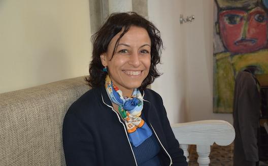 Leila Ben Gacem in her hotel