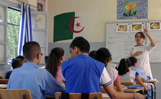 Une classe en Algérie