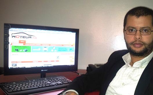 Abderrazak Yousfi dans son bureau